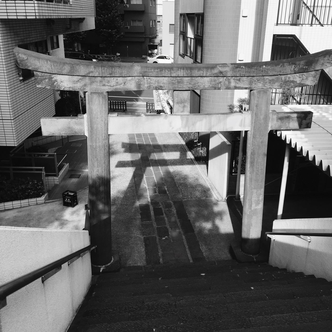 architecture, building exterior, built structure, steps, outdoors, no people, day, city