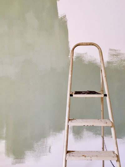 Ladder against wall during home renovation