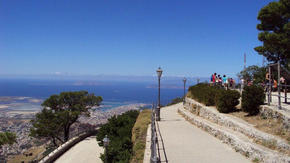 Egadi islands ... view from Erice No Filter Sicily Erice Egadi Sky Sea Mediterranean  Italy View Islands