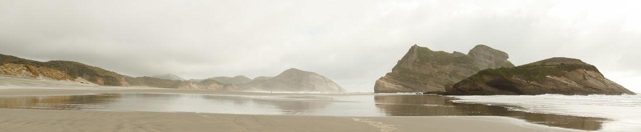 New Zealand Beauty New Zealand Scenery Panorama Day Fog Landscape Mountain Nature New Zealand No People Outdoors Scenics Sea Sky