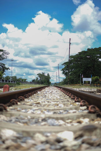 Kantang railway 🛤 Cloud - Sky Rail Transportation Railroad Track Track Transportation Direction No People Nature Tree Mode Of Transportation Day Plant Selective Focus Train Public Transportation Outdoors Long