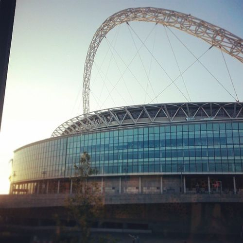 This mornings view at breakfast Wembley Wembleystadium Hilton Hiltonhotel goodmorning sunrise brightandearly newday