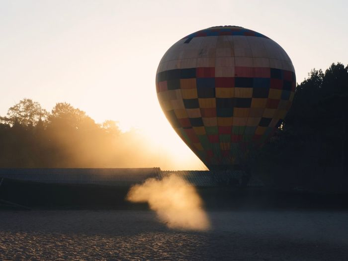 Travel Scenics Sky Motion Transportation Hot Air Balloon Nature Sunset Water Balloon Clear Sky Air Vehicle Mode Of Transportation Sea No People Outdoors Adventure Scenics - Nature Day Beauty In Nature Plant The Traveler - 2018 EyeEm Awards The Great Outdoors - 2018 EyeEm Awards The Still Life Photographer - 2018 EyeEm Awards A New Beginning Autumn Mood Capture Tomorrow