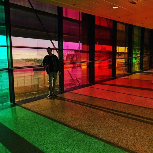The end of the rainbow is Dublin airport. Dublin Ireland🍀 Rainbow🌈 Coloursplash Travel
