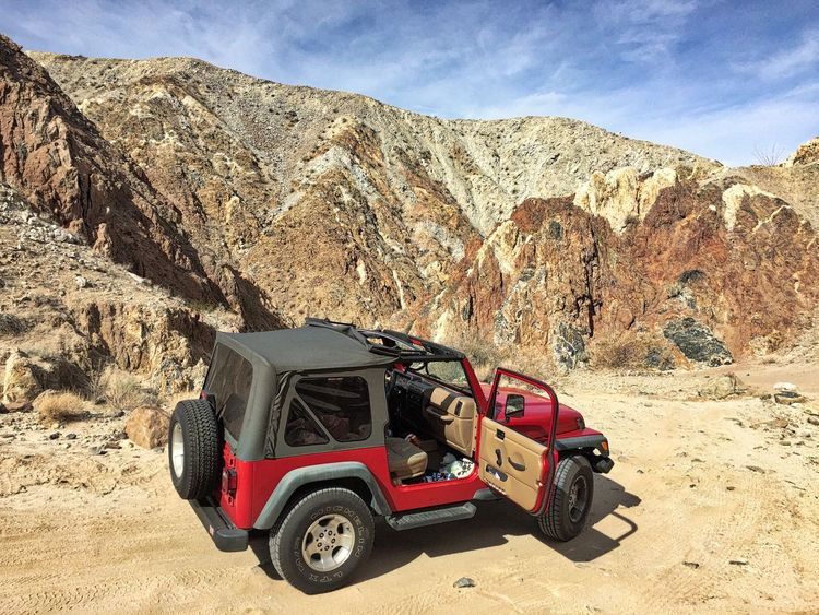California Desert Jeep Life Arid Climate Beauty In Nature Day Desert Jeep Jeep Wrangler  Land Vehicle Landscape Mountain Nature No People Outdoors Rock - Object Sky Transportation