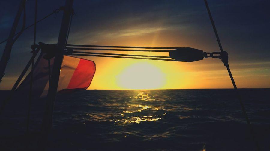 Sunset #sun #clouds #skylovers #sky #nature #beautifulinnature #naturalbeauty #photography #landscape Frenchflag Englishchannel Boats