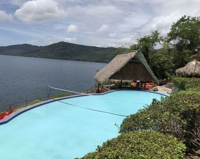 Nicaragua Architecture Beauty In Nature Built Structure Cloud - Sky Day Growth Lagoon Laguna Del Apoyo Mountain Nature Nautical Vessel No People Outdoors Scenics Sea Sky Tree Water