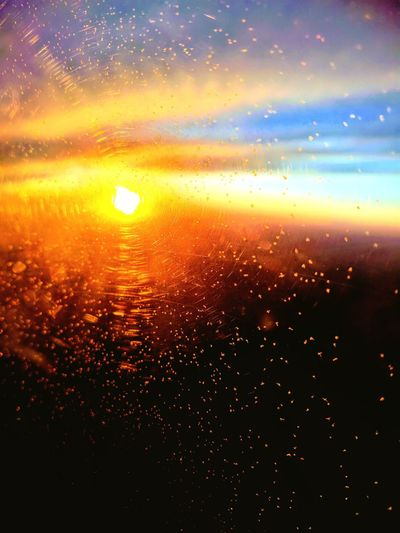 Abstract Perspective Photography Sun Window Plane Window Glow Beauty In Ordinary Things Red Orange Yellow Glowing Ice Crystals Dramatic Sky No People Cloud - Sky Sunlight Gold Colored Airplane Chilling Out Love ♥ Mobilephotography