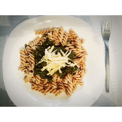 What's For Dinner? Pasta Pesto Cheese! Delicious