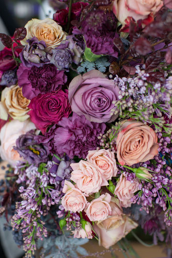 Close-up of roses bouquet