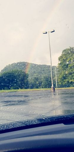 rainy day Rainbow🌈 Rainbows Sky Clouds Rainbow Sky Water Spraying Sky