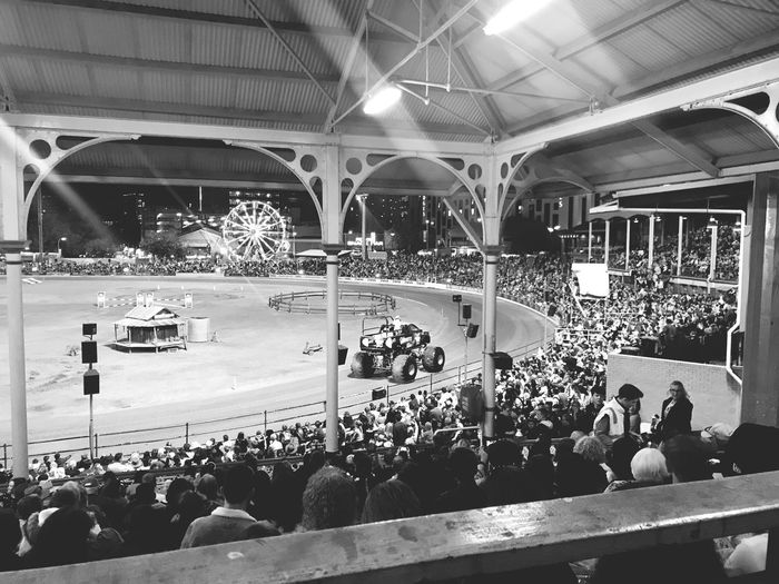 Monster Trucks Group Of People Crowd Large Group Of People Real People Men Leisure Activity Architecture Lighting Equipment Mode Of Transportation Spectator