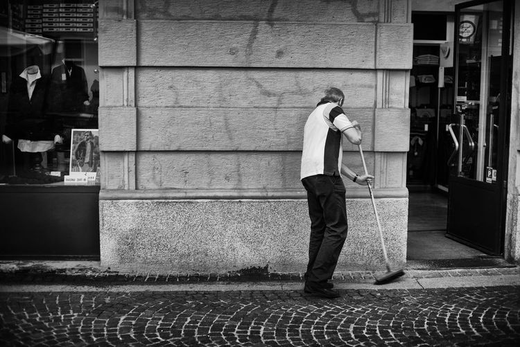 Cleaning Man Broom Broomstick Cleaning Streets One Person Person Street Streetphotography