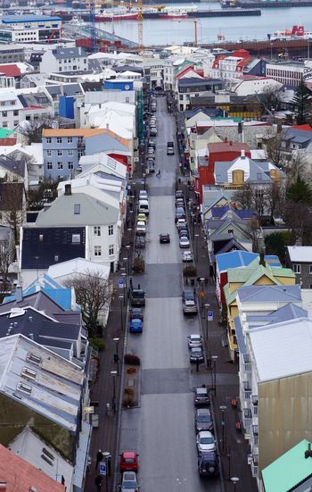 Iceland Reykjavik Architecture Building Exterior Built Structure City Day Harbor High Angle View Land Vehicle Mode Of Transport No People Outdoors Sky Transportation Water