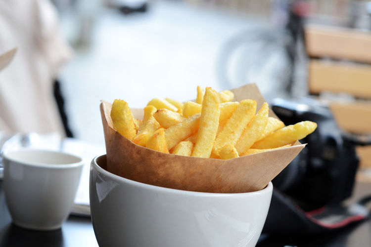Fries Belgian Fries Bowl Close-up Crunchy Day Fast Food Focus On Foreground Food Food And Drink Freshness Frites Indoors  No People Ready-to-eat SLICE Snack Table