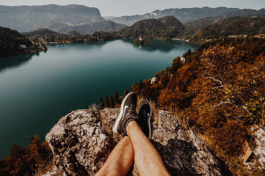 Mountain Water Human Leg One Person Human Body Part Low Section Outdoors Beauty In Nature Nature Scenics Day Real People Nautical Vessel Adult People Adults Only Sky Nike✔ Vscofilm Vscodaily Vscophile Vscogood Vscocam VSCO Moodygrams