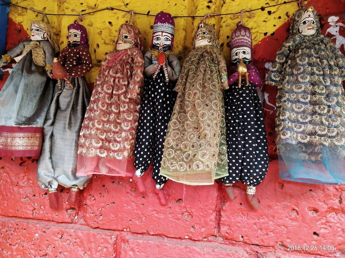 Clothes for sale at market stall