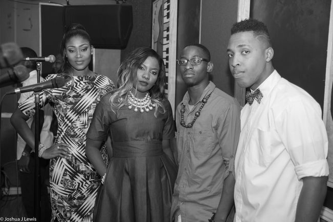 Standing Friendship Togetherness Young Adult Casual Clothing Videoshoot SoulSessions Artist Caribbean Bandroom Trinidad And Tobago Musiclife Singer  Gettingready Candid Music