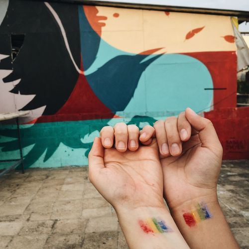 Love is love is love. Love Couple Loveislove Lgbt Lgbtq Lesbian Queer Holding Hands EyeEm Thailand Thailand_allshots Capture The Moment Resist EyeEm Diversity This Is Queer Inner Power Focus On The Story This Is My Skin