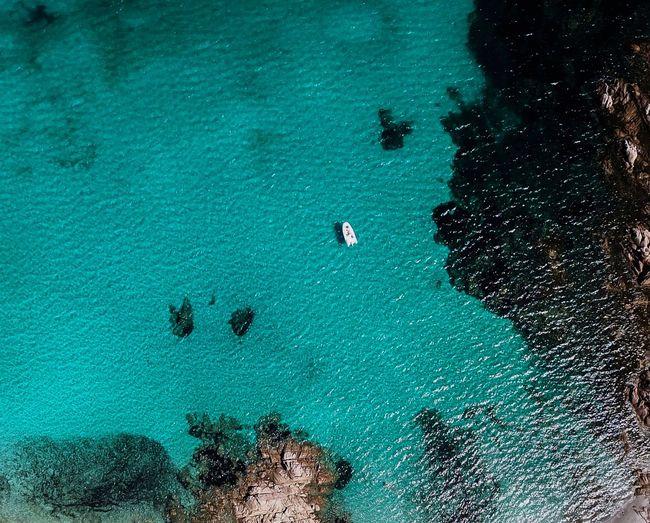 boat in a bay in Sardegna, Italy Landscape Dji DJI Mavic Pro DJI X Eyeem Beauty In Nature Naturelovers Nature Landscapes Landscape_Collection EyeEm Nature Lover Eye4photography  Droneshot Boating Drone  Nature Photography Nature_collection Traveling Boat Travel Water Aerial View Blue Sea Beach High Angle View Turquoise Seascape Floating In Water Turquoise Colored Horizon Over Water