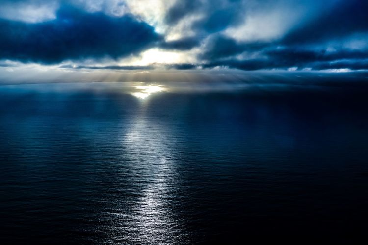 Beauty In Nature Cloud - Sky Dramatic Sky Horizon Horizon Over Water Nature No People Outdoors Overcast Reflection Scenics - Nature Sea Sky Storm Sunset Tranquil Scene Tranquility Water Waterfront