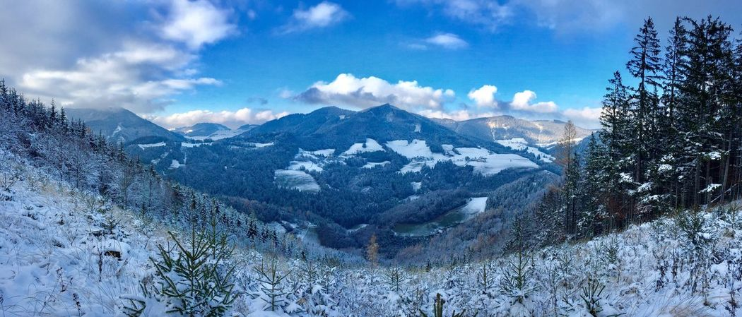 Austrian Alps. First snow. November 2016. Mountain Beauty In Nature Winter Cold Temperature Outdoors Landscape