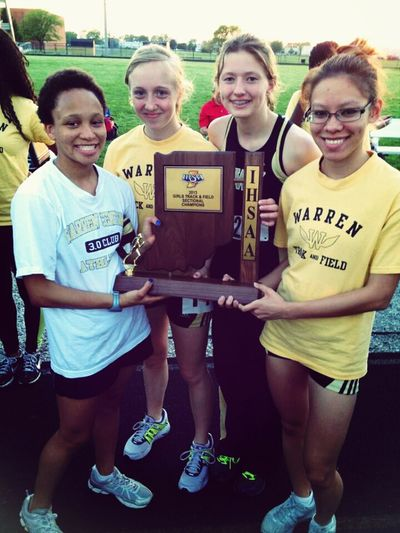 Track Meet Sectionals First Place