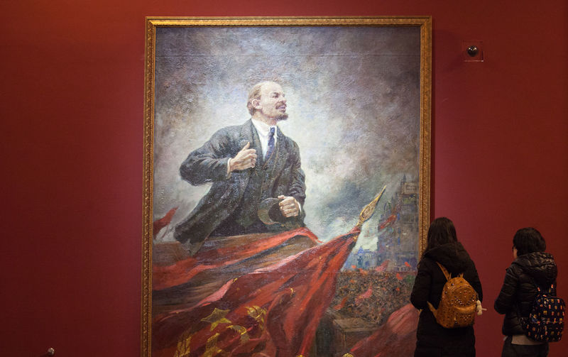 A Collection Of Russian State Historical Museum Exhibition In Memory Of The 100th Anniversary Of The October Revolution Historical Paintings Painting From Russian State Historical Museum Young Chinese In From Of 'Lenin' The October Revolution The October Revolution Exhibition The October Revolution Exhibition In China The October Revolution In Russia