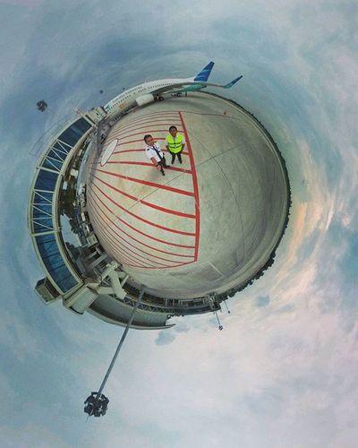 The new Jambi airport. 🌍 🛩 Theta360contest Theta360