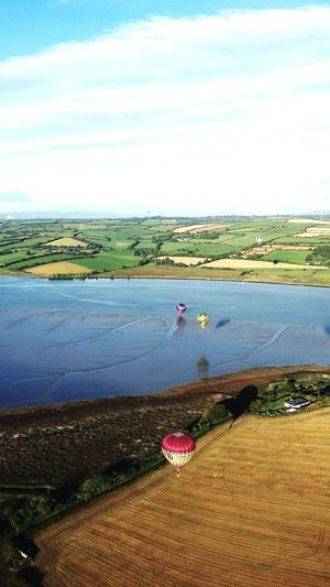 Irish ballooning championships Ireland🍀 Waterford Hot Air Balloons Open Edit Hello World Irish Landscape Water_collection EyeEm Best Shots Morning Flight Happiness