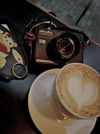 カプチーノとカメラと