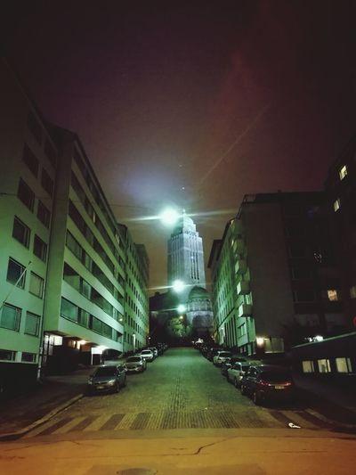 No People City Night Illuminated Built Structure Architecture Midnight Cityscape City Sky Church