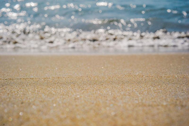 Surface level of sandy beach