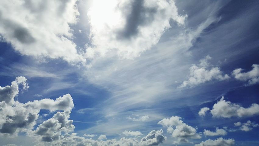 Cloud - Sky Sky Cloudscape Nature Blue Day Weather No People Beauty In Nature White Clouds Thank You For Your Like Feel Free To Follow ☺ Thanks For Following Me!