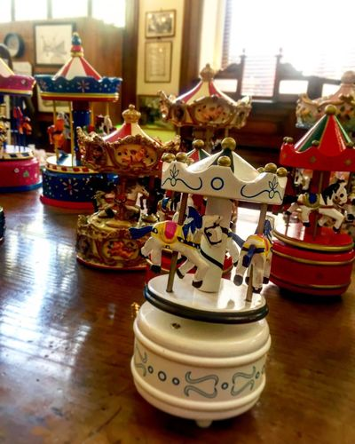 Indoors  Toy Figurine  No People Childhood Day Close-up Carousel Architecture Oldtoy Woodtoys