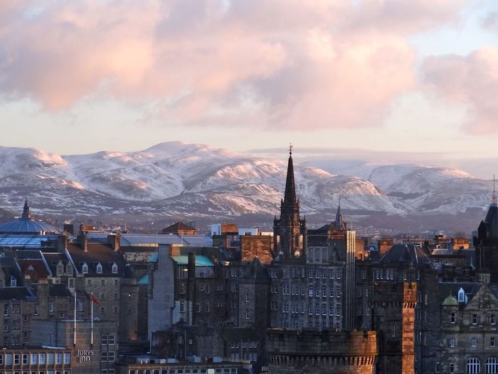 Edinburgh Scotland United Kingdom Sunset Calton Hill