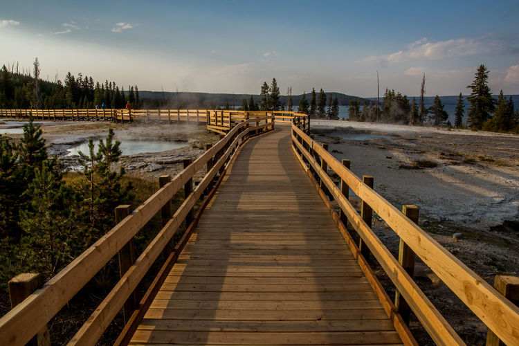 yellowstone national park Beauty In Nature Cloud - Sky Day Nature No People Outdoors Sky The Way Forward Tree Water Wood - Material