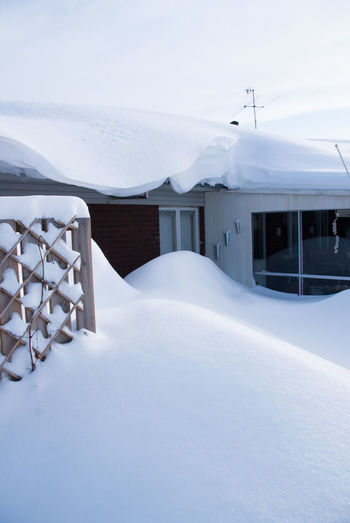 Snow Cold Temperature Winter Architecture White Color Building Exterior Built Structure Building Nature Covering Day No People Sky House Beauty In Nature Frozen Outdoors Tranquility Environment Powder Snow Snowy Houses Winter Wonderland Sweden Nature