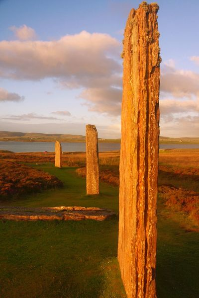 Standing Stones Clouds And Sky Scotland Orkney Nature Standing Stones