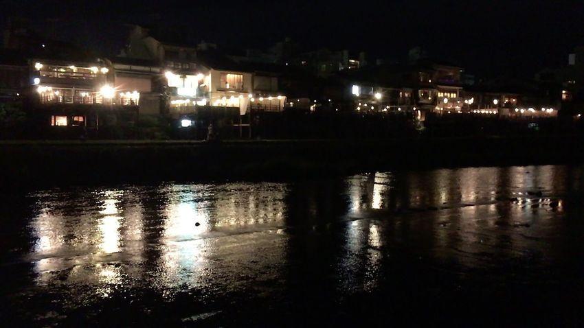 Kyoto,japan Night Lights Kyoto Night Kyoto City Night Night River Kyoto NIght Lights