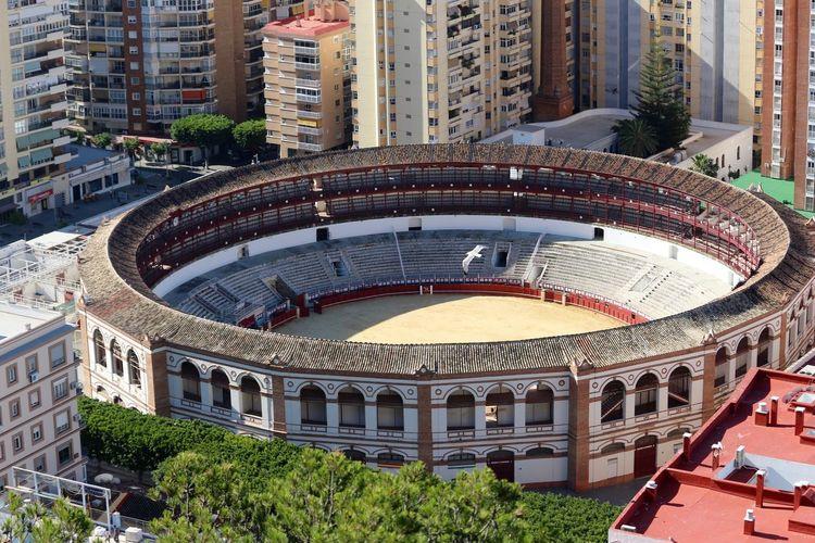 High Angle View Of Plaza De Toros De Ronda In City