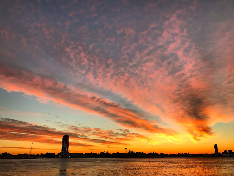 Sunrise over the river Built Structure Cloud - Sky Day Nature No People Outdoors River Sea Sky Sunrise Water