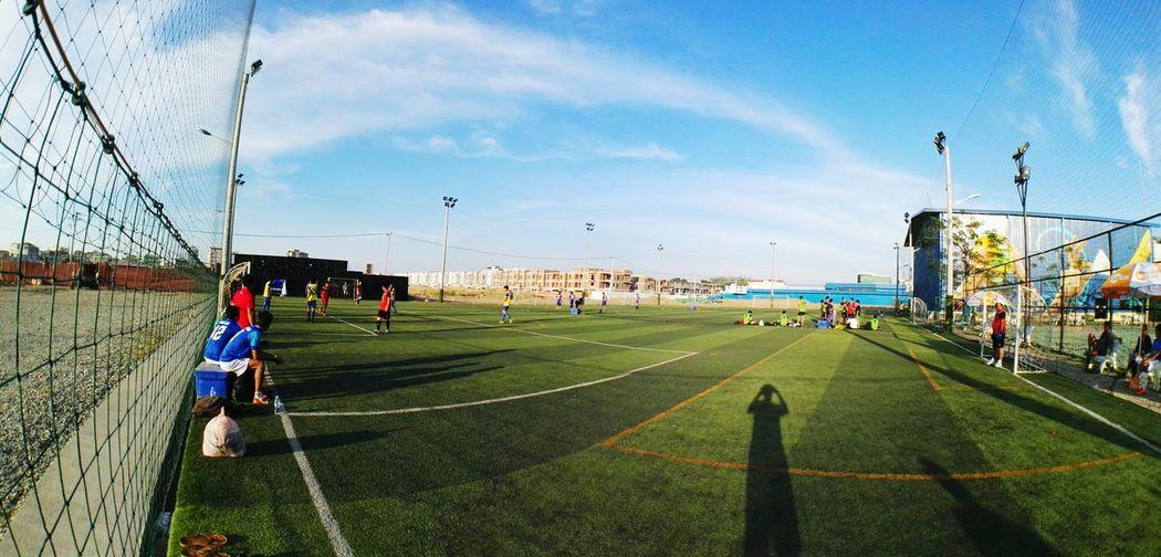 Footballmatch Centralparksportscomplex Urbanarchitecture