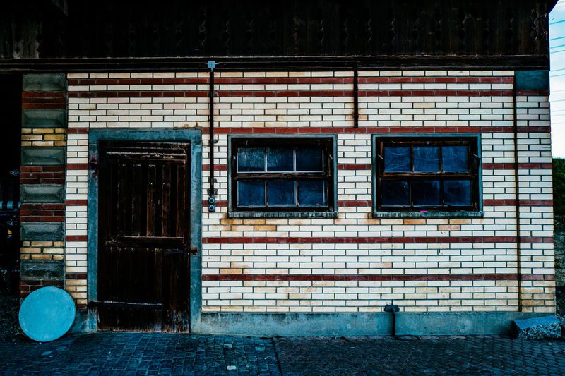 Architecture Auto Post Production Filter Blue Building Building Exterior Built Structure City Closed Day Door Exterior Façade Glass - Material Gormund House Kapelle No People Outdoors Residential Building Residential Structure Transfer Print Window