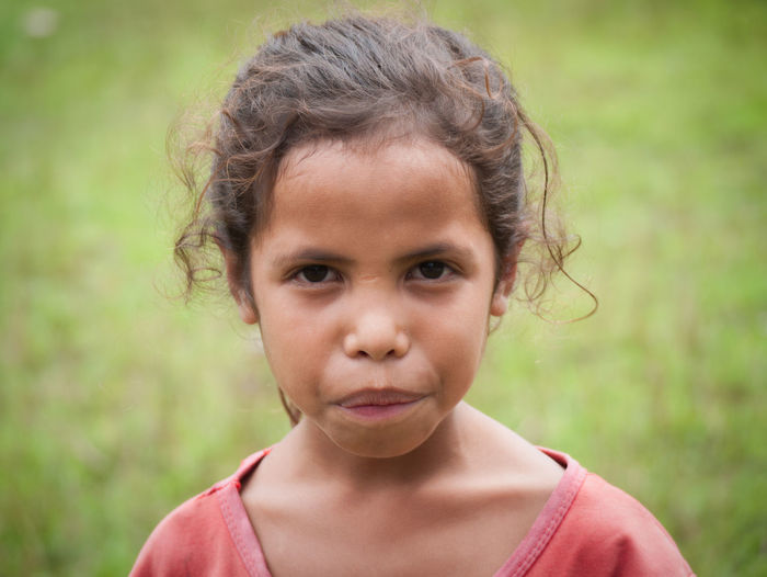 Girl from Abana, Timor Leste TIMOR LESTE Charming Child Childhood Children Only Close-up Day Elementary Age Focus On Foreground Front View Girls Headshot Human Face Looking At Camera One Person Outdoors People Portrait Real People EyeEmNewHere