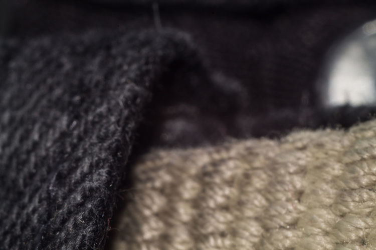 Backgrounds Black Color Close-up Heat - Temperature Indoors  Industry Material No People Selective Focus Softness Textile Textured  Wool
