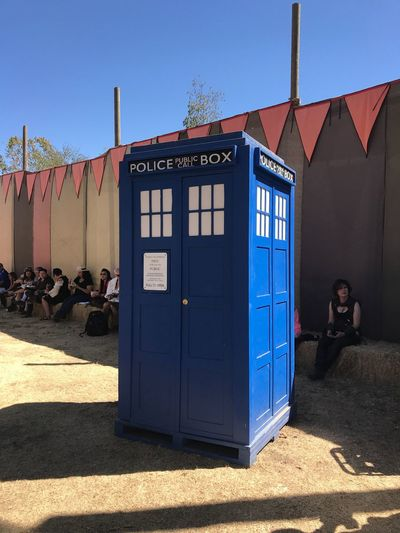 Tardis Nerdy EyeEm Selects Architecture Built Structure Building Exterior Sunlight Building Nature Blue Clear Sky Sunny Day