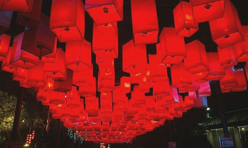 Nightphotography Red Lenten Lanterns Festival City Life Phootshoot Journey