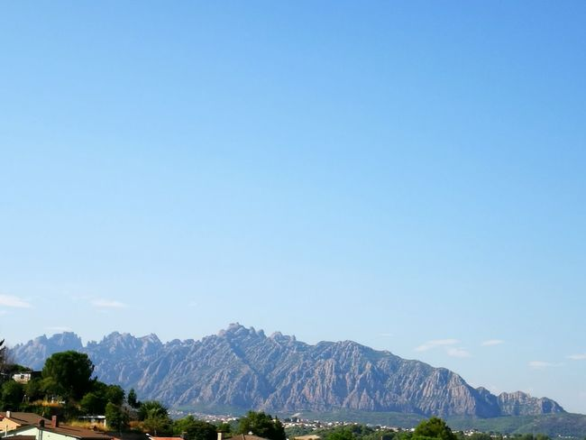 Mountain No People Sky Mountain Range Landscape Scenics Clear Sky Day Outdoors Beauty In Nature Nature Nature_collection Views Barcelona
