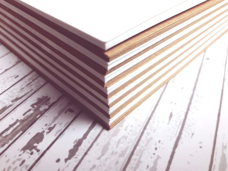 Paper Indoor Stripes No People White Brown Table